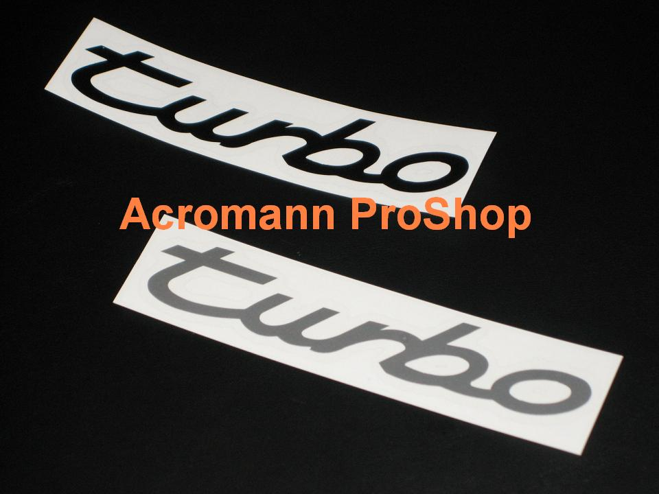 Porsche turbo 5inch Decal x 2 pcs